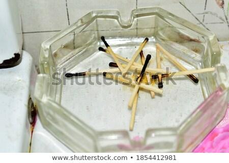 灰皿 · ガラス · 孤立した · 白 · 煙 · ストレス - ストックフォト © merlot