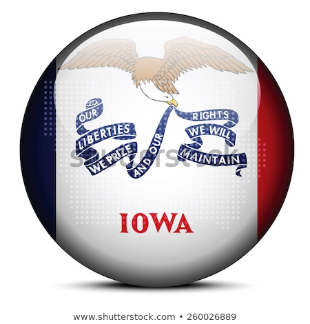 Map with Dot Pattern on flag button of USA Iowa State Stock photo © Istanbul2009
