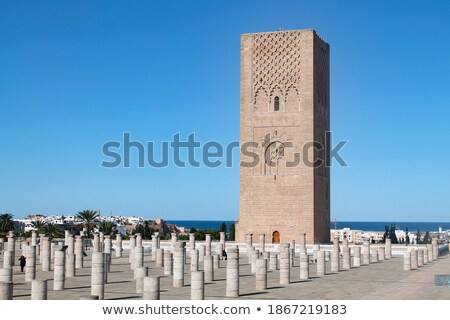 muslim in  mosque the history  symbol   morocco  africa  minare Stock photo © lkpro