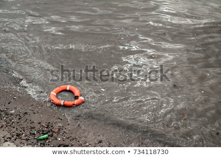 Rubbish washed up on the shore on the beach Stock photo © Witthaya