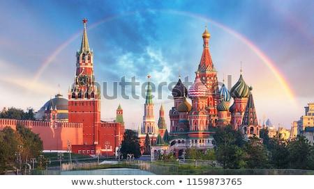Kremlin famoso Moscú Rusia cruz nieve Foto stock © sailorr