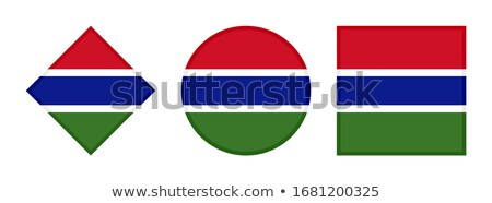 Square sticker with flag of gambia Stock photo © MikhailMishchenko
