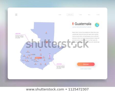 Laranja botão imagem mapas Guatemala forma Foto stock © mayboro