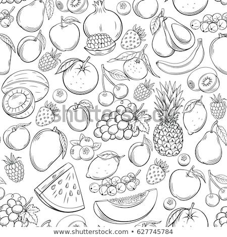 вектора · бесшовный · фрукты · шаблон · рисованной - Сток-фото © vectorikart