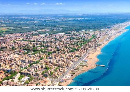 Panoramic view of a city built on the seashore Stock photo © stryjek