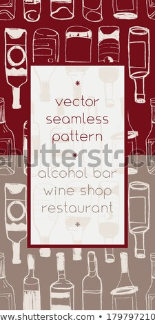 vector graphic colored icon sticker set of winery stock photo © feabornset
