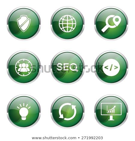 Seo internet segno verde vettore pulsante Foto d'archivio © rizwanali3d