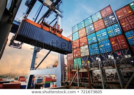 промышленных порта изображение город морем Сток-фото © deandrobot