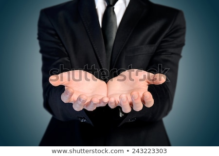 Uomo offrire mano niente Palm Foto d'archivio © fuzzbones0