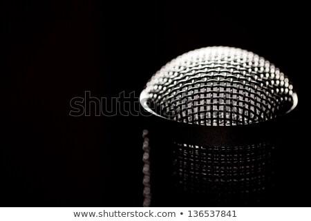 подробность микрофона голову изолированный белый Сток-фото © Kayco