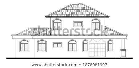 2D perspective drawing of a house  Stock photo © shawlinmohd