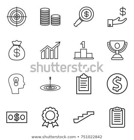 humanismo · cabeça · dólar · símbolo · linha · ícone - foto stock © rastudio