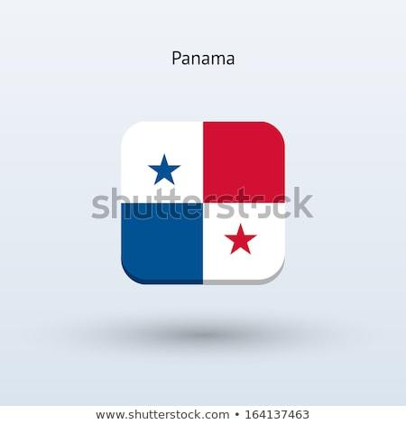 Platz Symbol Flagge Panama isoliert weiß Stock foto © MikhailMishchenko