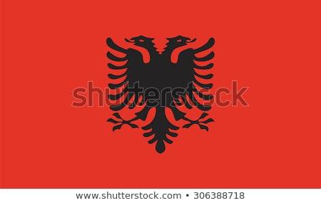 Bandera república Albania pequeño hombre 3d Foto stock © Istanbul2009