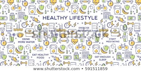 kalp · ölçek · örnek · kalp · şekli · sağlık · spor · salonu - stok fotoğraf © netkov1