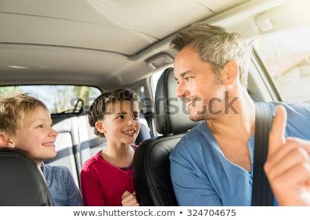 Ritratto due amici parlando ridere auto Foto d'archivio © nenetus