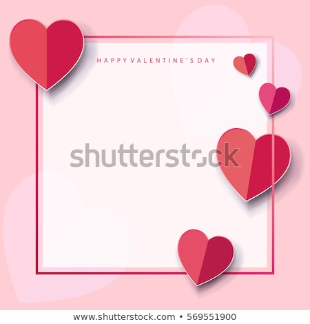 Love letter template with hearts Stock photo © illustrart