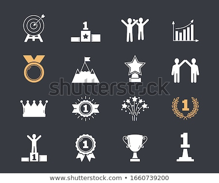 Graph golden Vector Icon Design Stock photo © rizwanali3d