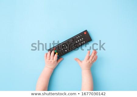 bebé · control · remoto · nina · mano · televisión · nino - foto stock © Paha_L