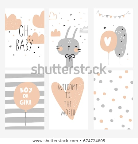 bebé · tarjeta · texto · oficina · papel · sonrisa - foto stock © Paha_L