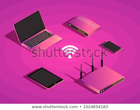 3g Sign Violet Vector Icon Design Stock photo © rizwanali3d