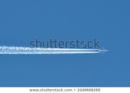 Jet Kreuz blau Silhouette Stock foto © ndjohnston