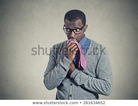 Imbarazzato african uomo barba vettore design Foto d'archivio © RAStudio