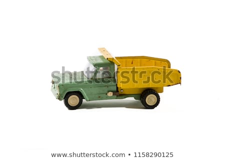 Vintage vrachtwagen speelgoed oude communist tijdperk Stockfoto © tony4urban