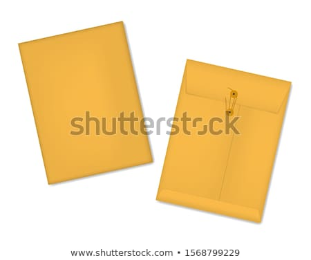 Arquivo envelope Manila papel Foto stock © devon