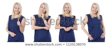 Surprised or shocked woman with blue eyes Stock photo © stryjek