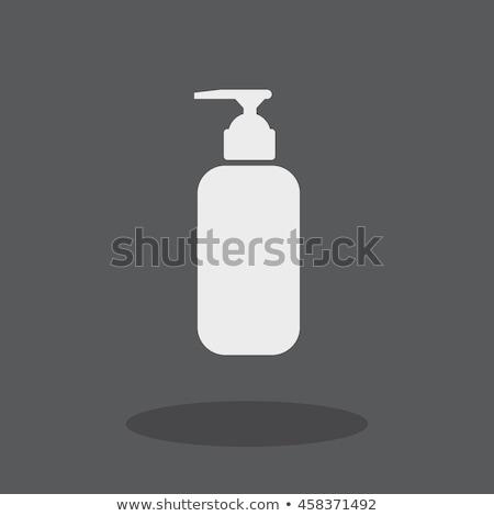 Prysznic żel płynnych mydło ikona strony Zdjęcia stock © kiddaikiddee
