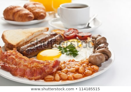 традиционный · английский · завтрак · иллюстрация · жареный · яйца - Сток-фото © alexanderandariadna