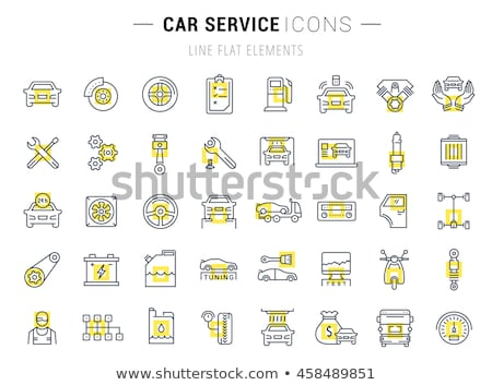 repair service icon flat design stock photo © wad