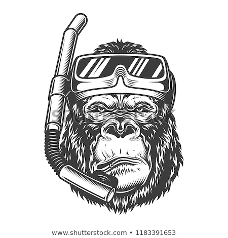 猿 スキューバダイビング マスク 実例 水 森林 ストックフォト © adrenalina