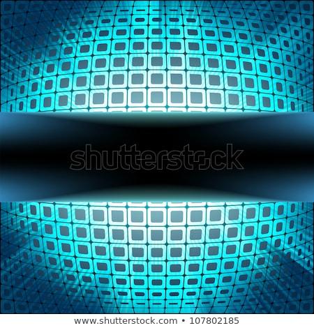 Teknoloji kareler mavi parlama eps Stok fotoğraf © beholdereye
