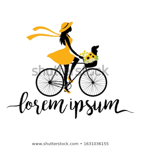 Kobiet czarna sukienka rowerów piękna graffiti Zdjęcia stock © Massonforstock
