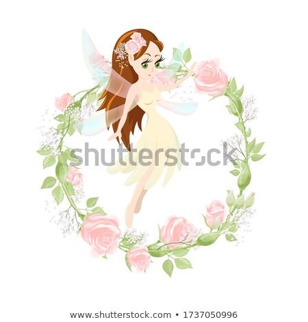 белый кремом мало роз свежие Сток-фото © dariazu