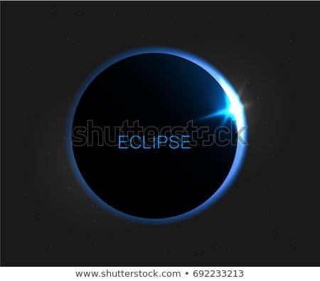Kék nap fogyatkozás képzeletbeli űr csillagok Stock fotó © alexaldo