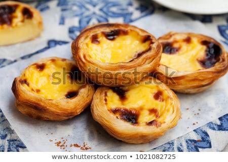 Vla taart room framboos voedsel vers Stockfoto © Digifoodstock