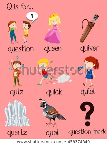 Flashcard letter Q is for quick Stock photo © bluering