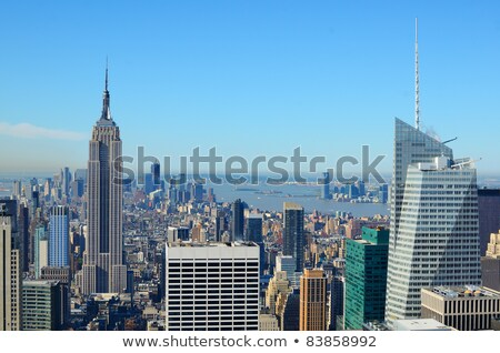 Empire State bulding from Bryant park Stock photo © rmbarricarte