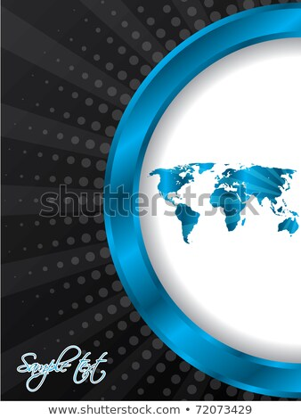 Abstract brochure with bursting world map Stock photo © vipervxw