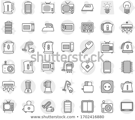 Kitchen electric kettle icon  Stock photo © angelp