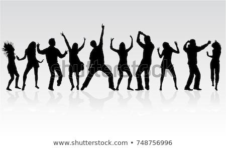 Dans insanlar siluetleri dans çalışmak spor Stok fotoğraf © alekup