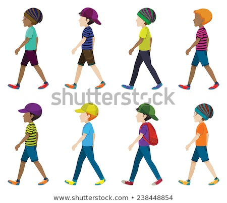 eight faceless kids stock photo © bluering