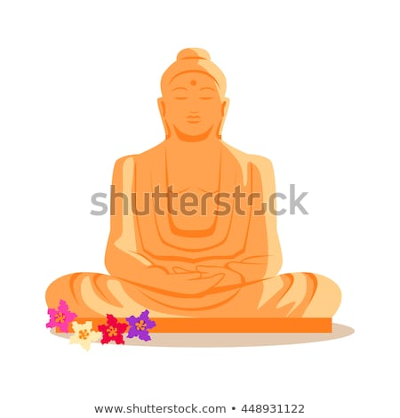 Buda heykel örnek dizayn seyahat Hindistan Stok fotoğraf © robuart