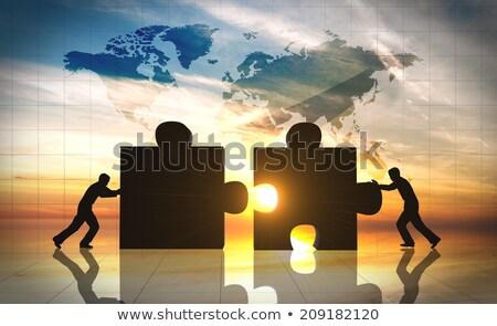 puzzle world 2 stock photo © marinini