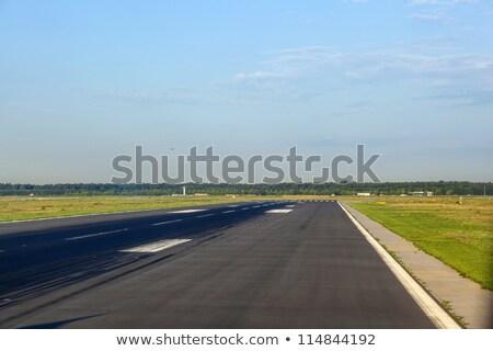 Landing hoofd- luchthaven Frankfurt Stockfoto © meinzahn