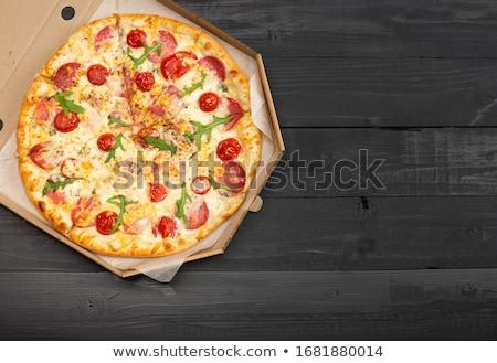pizza · et · sebze · biber · taze - stok fotoğraf © bluering