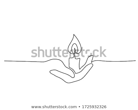 Hand holding fire  sketch icon. Stock photo © RAStudio